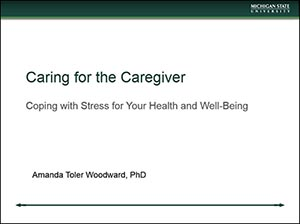 Screenshot of Caring for the Caregiver video